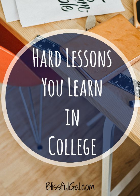 College teaches us more about life than we think.  These are hard lessons you learn in college that will help you in the real world