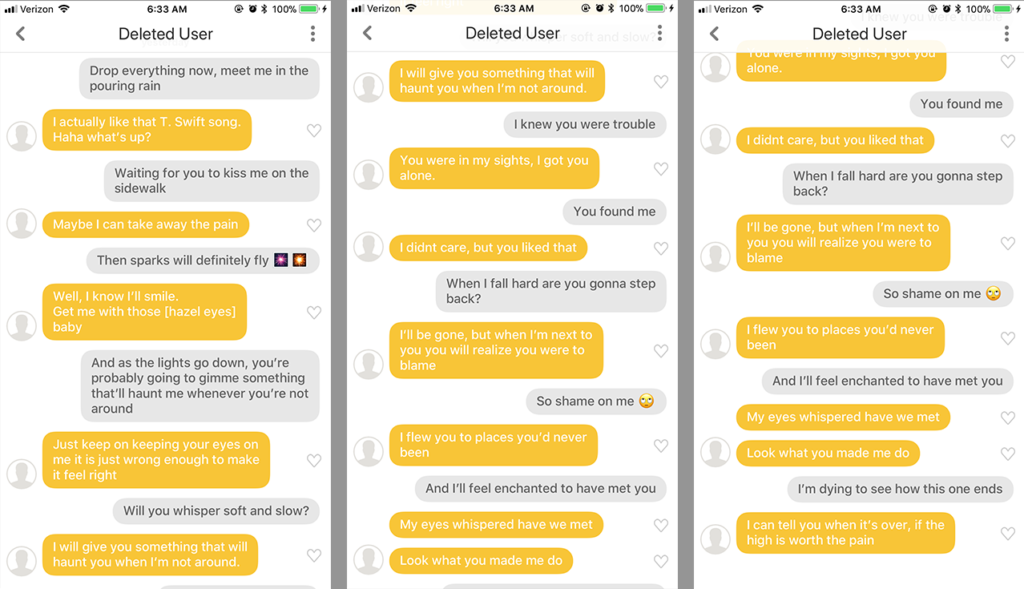 dating app pick up lines